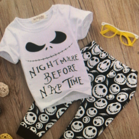 NWT Nightmare Before Christmas Baby Boy Jack Bodysuit Pants /&Hat Outfit Set